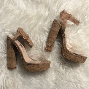 NEVER WORN Cork Platform Sandal